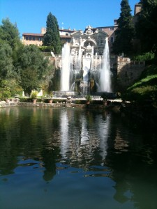 Glorious fountains of the Villa d'Este, Italy.
